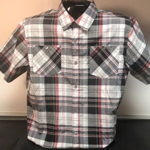 Akademiks 2XL Casual Plaid Short Sleeve Shirt